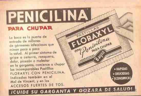 LA PENICILINA SE EMPLEA POR PRIMERA VEZ EN ESPAÑA EN 1944