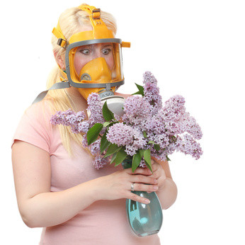 rinitis alérgica y mascara